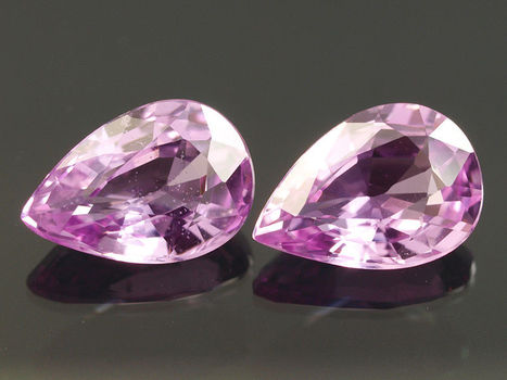 4x2mm VS Natural Pink Sapphire Pear Cut Loose Gemstone