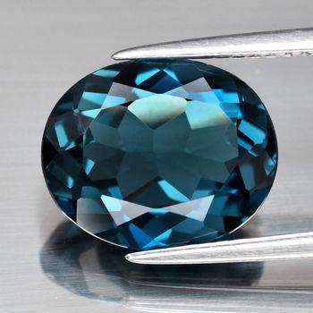 2.05 ct VVS Natural London Blue Topaz Oval Cut Loose Gemstone