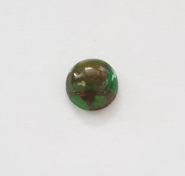 3.88 ct Natural Green Mojave Copper Turquoise Round Cut Loose Gemstone