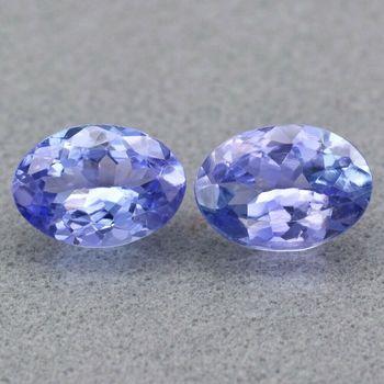 VVS Natural Tanzanite Oval Cut Pair Loose Gemstone