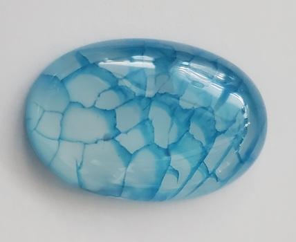 30.50 ct Natural Blue Dragons Vein Agate Cut Loose Gemstone Gemstone