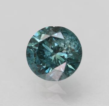 CERTIFIED .60 ct Natural Blue Diamond Round Cut Loose Gemstone