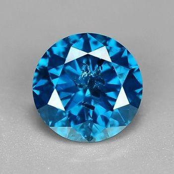 .08 ct Natural Blue Diamond Round Cut Loose Gemstone
