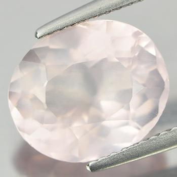 4.11 ct Natural Rose Quartz Oval Cut Loose Gemstone