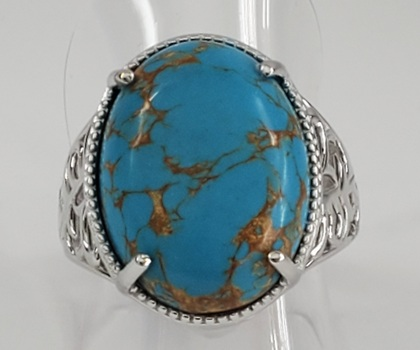 No Reserve Mojave Blue Turquoise Ring Size  7