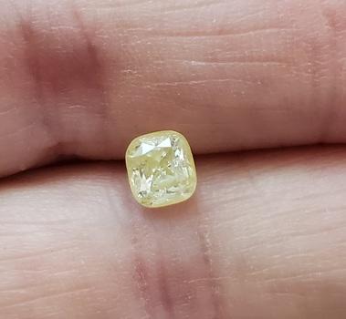 CERTIFIED .85 ct Natural Diamond Cushion Cut Laser Inscribed Loose Gemstone