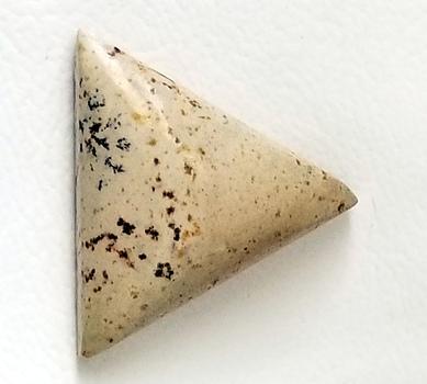 9.17 ct Natural Picture Jasper Triangle Cut Loose Gemstone