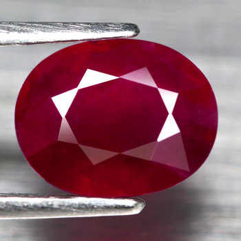 1.90 ct Natural Blood Red Ruby Oval Cut Loose Gemstone
