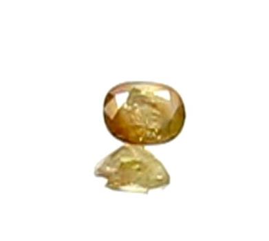 VIDEO .24 ct Natural Diamond Orange Yellow Oval Cut Loose Gemstone