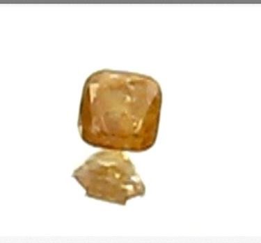 VIDEO .27 ct Natural Diamond Orange Yellow Cushion Cut Loose Gemstone