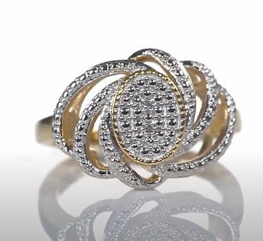 VIDEO No Reserve Natural Diamond Ring Size 9