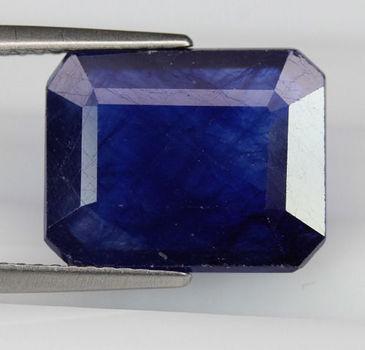 3.87 ct  Natural Sapphire Octagon Cut Loose Gemstone