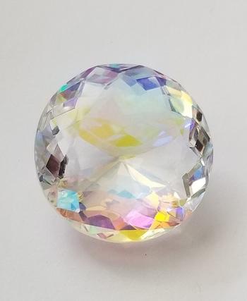 29.98 ct Natural Rainbow Mercury Mist Quartz Round Cut Loose Gemstone