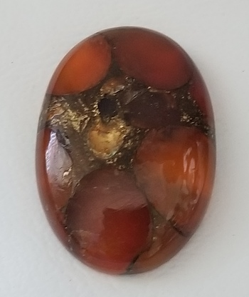 23.61 ct Natural Copper Carnelian Oval Cut Loose Gemstone