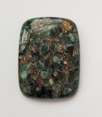 48.80 ct Copper Emerald Cushion Cut Loose Gemstone