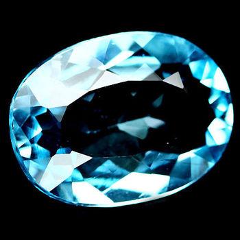 1.50 ct VVS Natural Ocean Blue Topaz Oval Cut Loose Gemstone