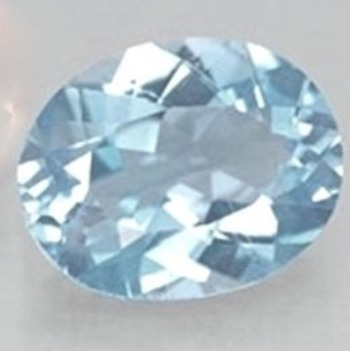 1.35 ct VVS Natural Ocean Blue Topaz Oval Cut Loose Gemstone