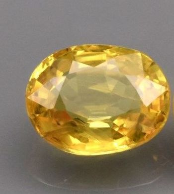.84 ct VS Natural Yellow Sapphire Oval Cut Loose Gemstone