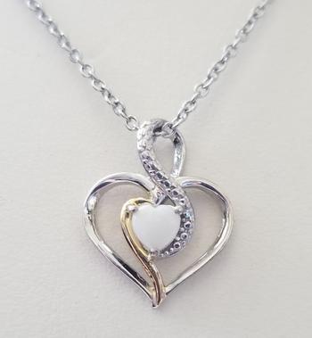 Brand New Natural Opal Heart Pendant & Chain