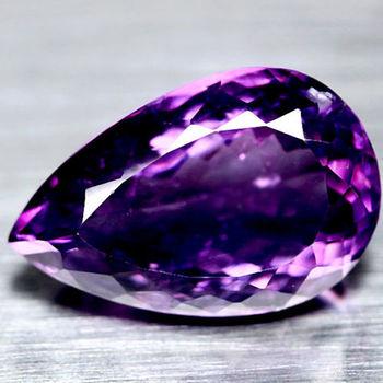 1.89 ct VVS Natural Amethyst Pear Cut Loose Gemstone