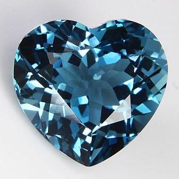 5mm VVS Natural London Blue Topaz Heart Cut Loose Gemstone