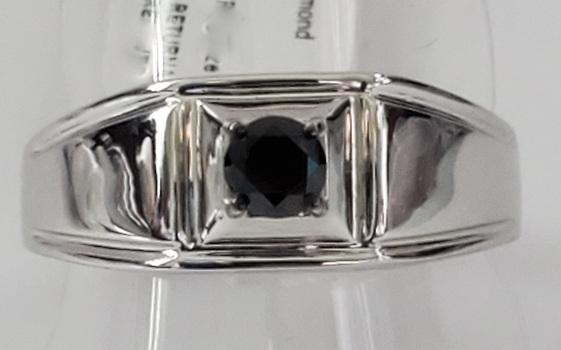 No Reserve .25 ct Natural Black Diamond Ring Size 12