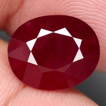 11.44 ct Natural Blood Red Ruby Oval Cut Loose Gemstone