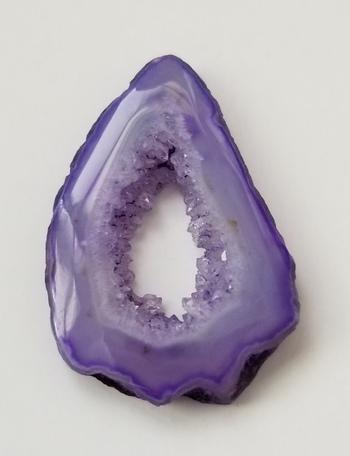 29.49 ct Natural Purple Druzy Agate Loose Gemstone