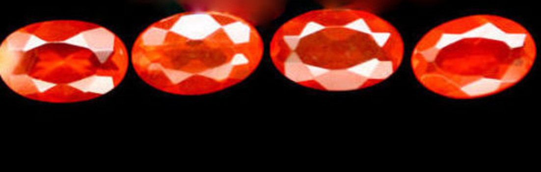 3x5mm Natural Mexican Fire Opal Oval Cut Lot 4pcs Loose Gemstone