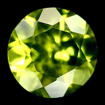5mm VS Natural Peridot Round Cut Loose Gemstone