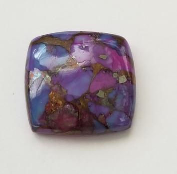 19.90 ct Purple Mojave Turquoise Cushion Cut Loose Gemstone