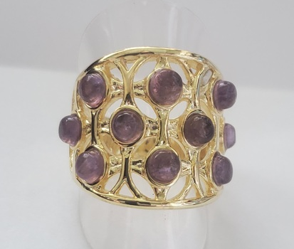 No Reserve Natural Amethyst Ring Size 10
