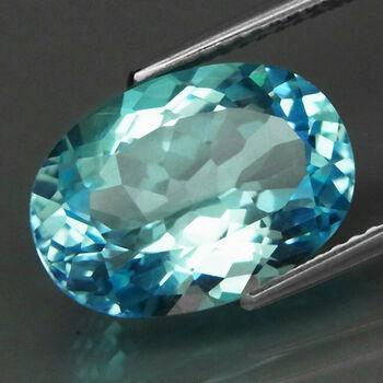 2.12  ct VVS Natural Swiss Blue Topaz Oval Cut Loose Gemstone
