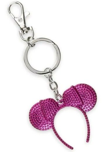 NWT Disney Parks Imagination Pink Minnie Mouse Ears Headband Key Chain