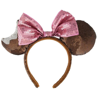 NEW Disney Parks Chocolate Mickey Mouse Ice Cream Bar Bow Sequin Ears Headband