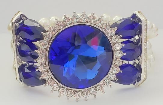 No Reserve Sapphire Crystal & Pearl Bracelet