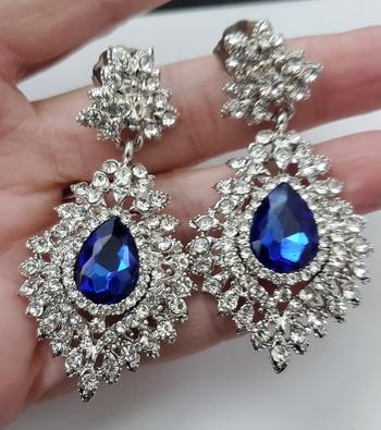 No Reserve Tanzanite Crystal Dangle Earrings