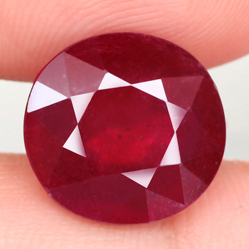 7.12 ct Natural Ruby Oval Cut Loose Gemstone