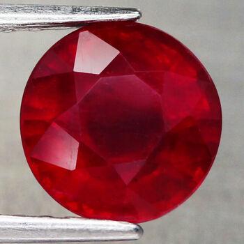 3.75 ct Natural Ruby Round Cut Loose Gemstone
