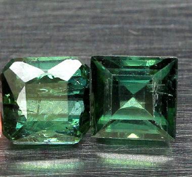 .80 ct VS1 Natural Green Tourmaline Pair Loose Gemstone