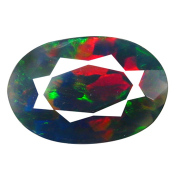 1.88 ct Natural Black Welo Opal Oval Cut Loose Gemstone