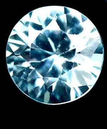 VS Natural Blue Zircon Round Cut Loose Gemstone