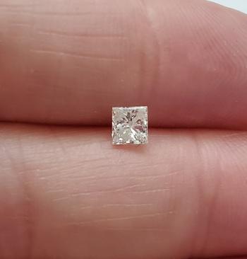 .37 ct Natural Diamond Princess Cut Loose Gemstone