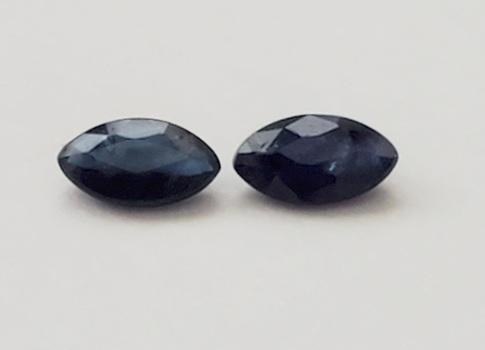Natural Sapphire Marquise Cut Pair Loose Gemstone