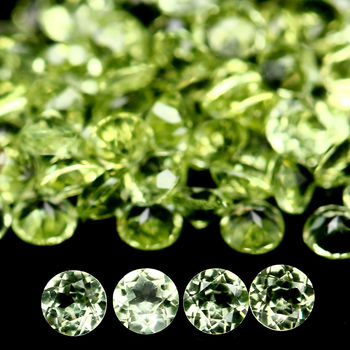 20 Pieces VVS Natural Peridot Round Cut Loose Gemstone