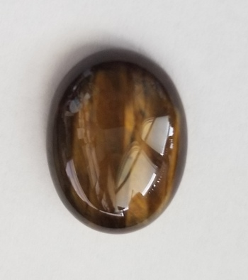 14.79 ct Natural Tigers Eye Oval Cut Loose Gemstone