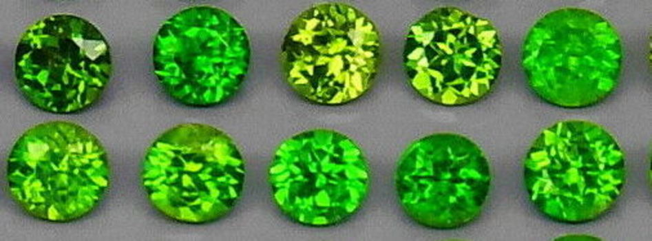 10 Pieces Natural Russian Chrome Diopside Round Cut Loose Gemstone
