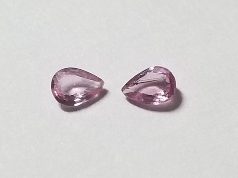 4x3mm Natural Pink Sapphire Pear Cut 2 Pieces Loose Gemstone