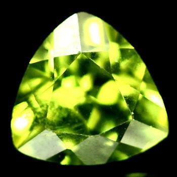 5mm Natural Peridot Trillion Cut Loose Gemstone