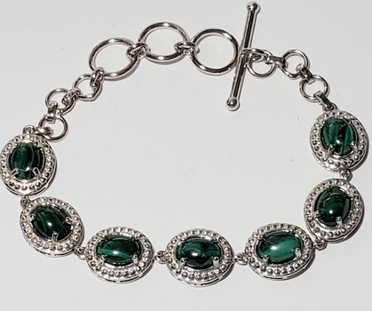 No Reserve Natural Malachite Bracelet